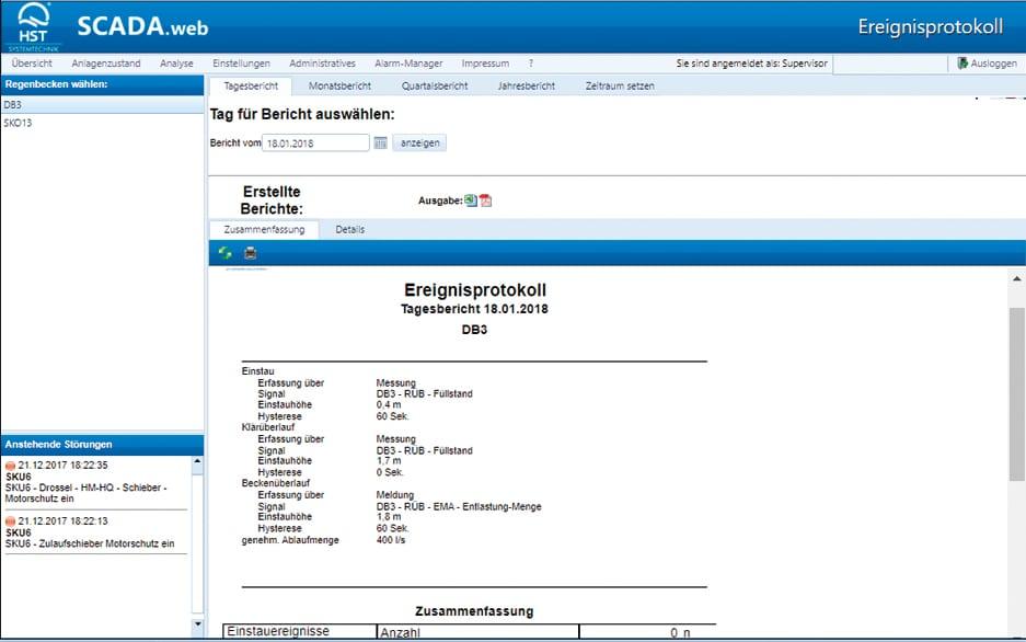 SCADA.web Grafische Auswertung von Prozessdaten 2