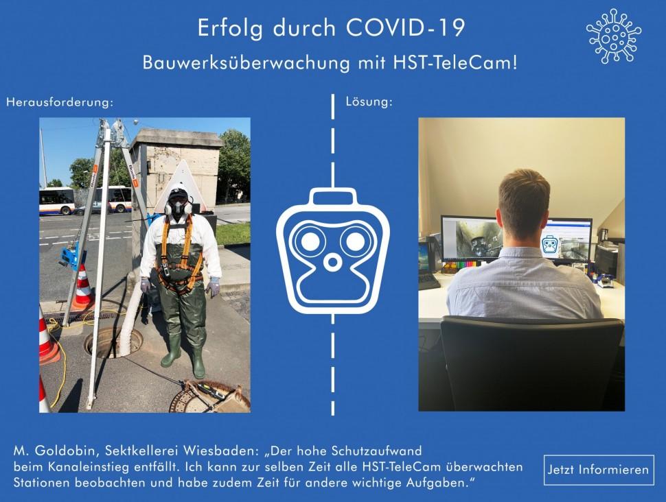 Erfolg durch COVID-19 - Bauwerksüberwachung mit HST TeleCam 1